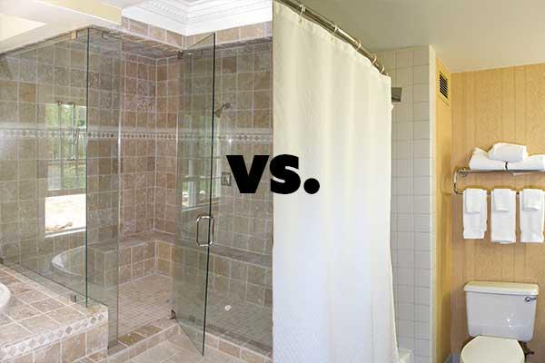 https abcglassandmirror com frameless glass shower doors vs shower curtains