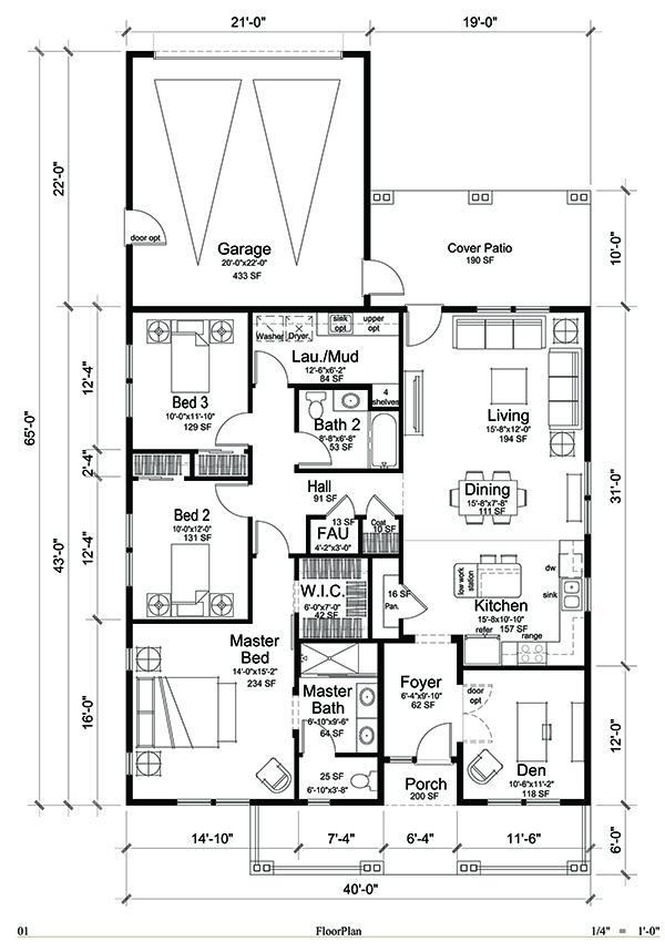 1.0 Floor Plan