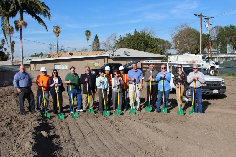 The ABC Green Home team breaks new ground in Santa Ana, CA