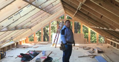 The ABC Green Home 4.0 project has an air conditioning story in its tall attic storage room which demonstrates how builders can make California's Title 24 code requirements work to their advantage.