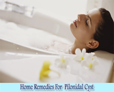 Warm Bath : Home Remedies For Pilonidal Cyst