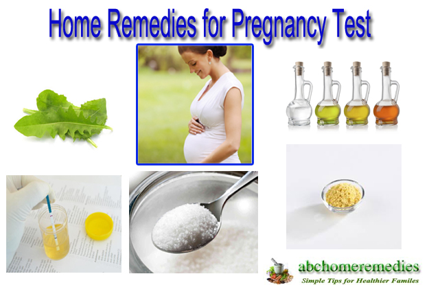 Home Remedies for Pregnancy Test