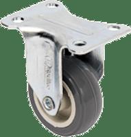 Rodízio Fixo Placa Roda 1pol. BP PVC 25kg Carga