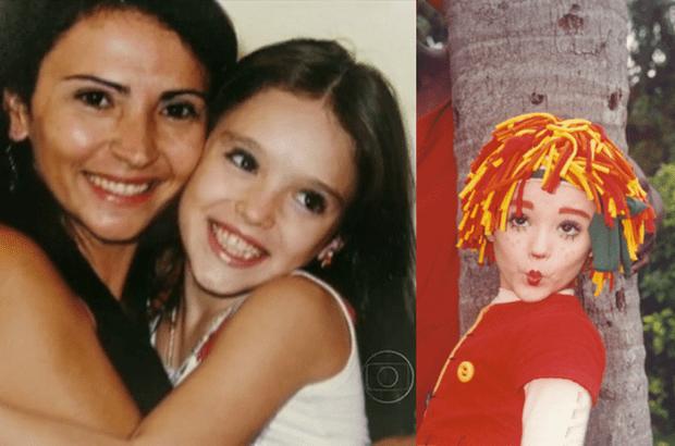 À esquerda, Isabele Drummond com a mãe (Foto: Globo)