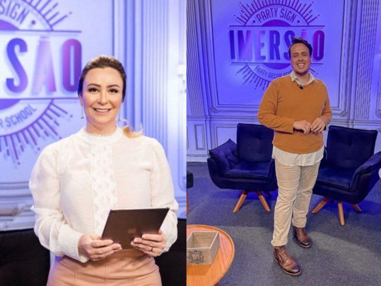 Silvia Saia e Felipe Manzatto, apresentadores do Imersão (Reprodução - Instagram)