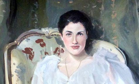 A médium Madame W.Krell que psicografou a prece de Cáritas