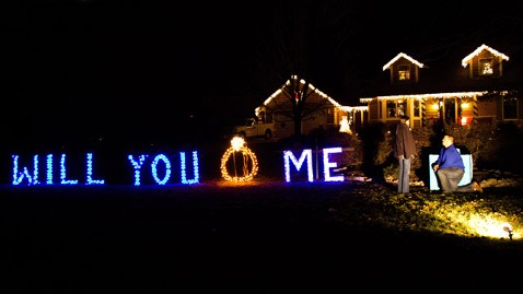 Christmas Lights Spell Surprise Marriage Proposal ABC News
