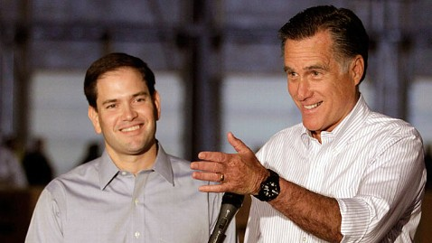 ap marco rubio romney jp 120622 wblog Veep Beat: Potential Picks Descend on Park City, Rubio Explains Why Hes Not