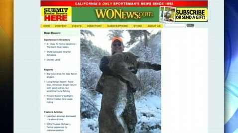 abc dan richard hunting lion thg 120222 wblog Top Fish And Game Official Poses With Dead Mountain Lion