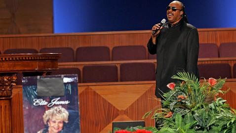 ap Etta James Funeral stevie wonder jt 120129 wblog Etta James Funeral: Christina Aguilera, Stevie Wonder Pay Tribute