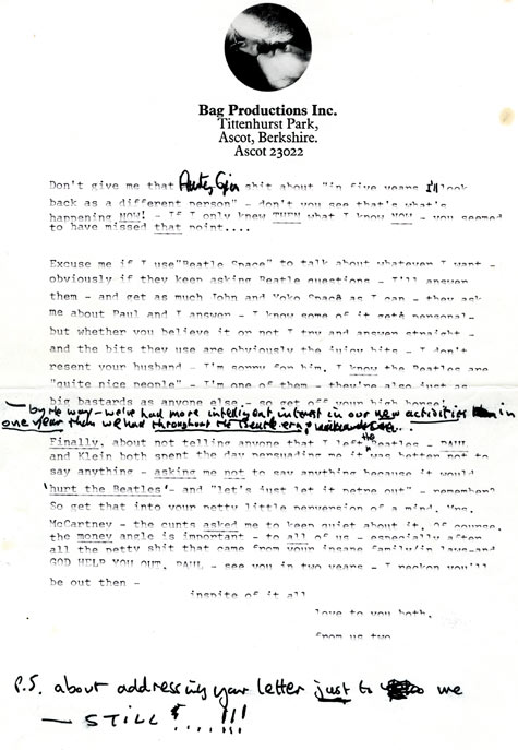 gty john lennon letter 2 nt 130329 blog Letters From a Lost Marilyn Monroe, Angry John Lennon to Be Auctioned