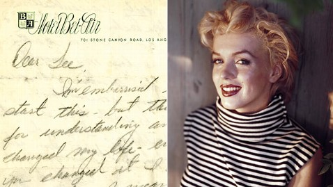 gty marilyn monroe promo nt 130329 wblog Letters From a Lost Marilyn Monroe, Angry John Lennon to Be Auctioned
