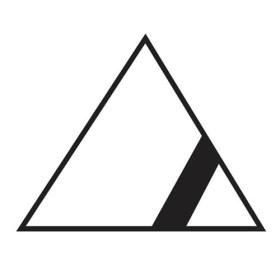 háromszög-vonallal