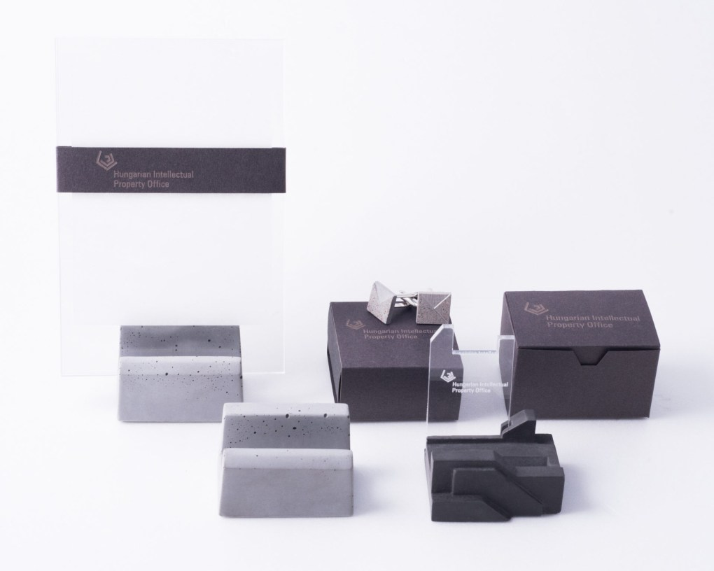 Branded corporate concrete gift family