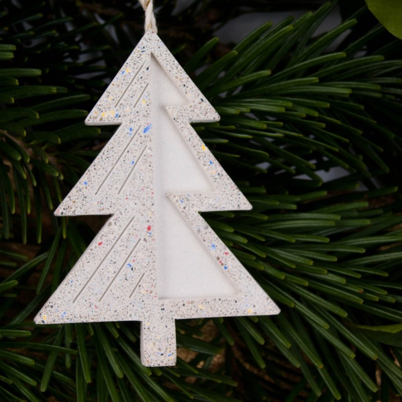 Xmas ornament concrete pine tree from AB Concrete Design