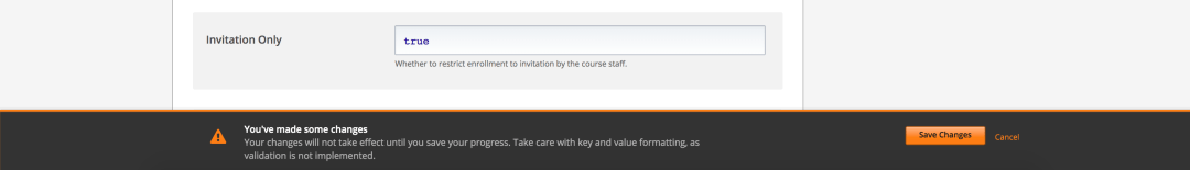 Set Enrolment to By Invitation Only in Advanced Settings