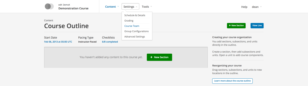 Open edX How to Add Course Team
