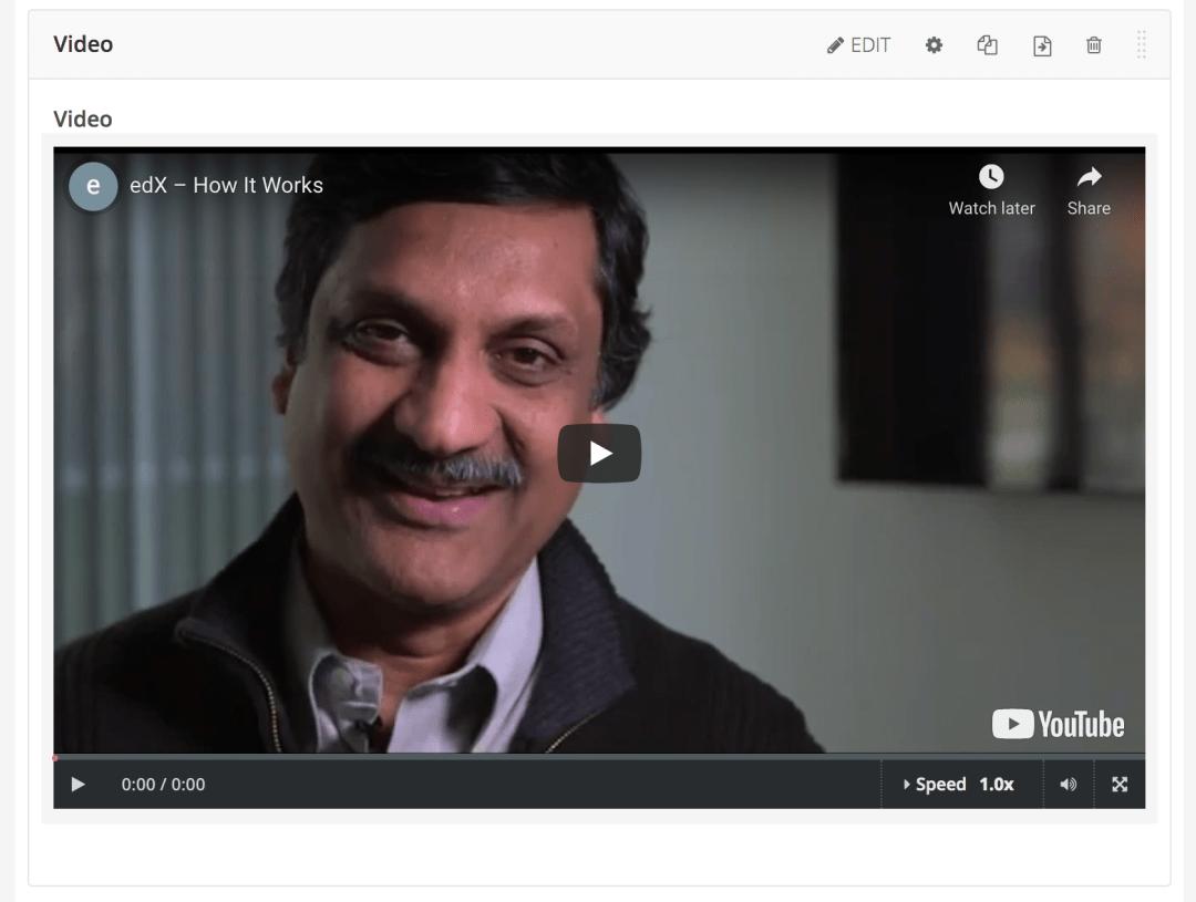 open edx studio tutorial how to add a video