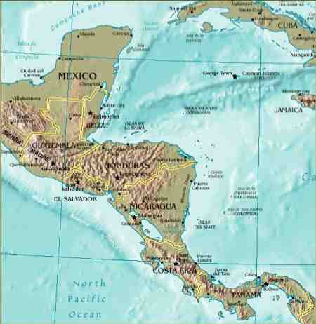 Landforms of Central America