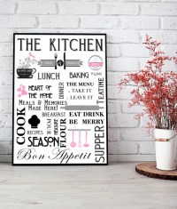 Stylish Kitchen  Diner Wall Art Print | ABC Prints