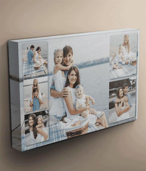 6 photo collage canvas