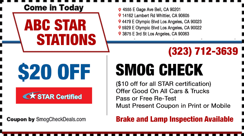 Brake And Light Inspection East Los Angeles