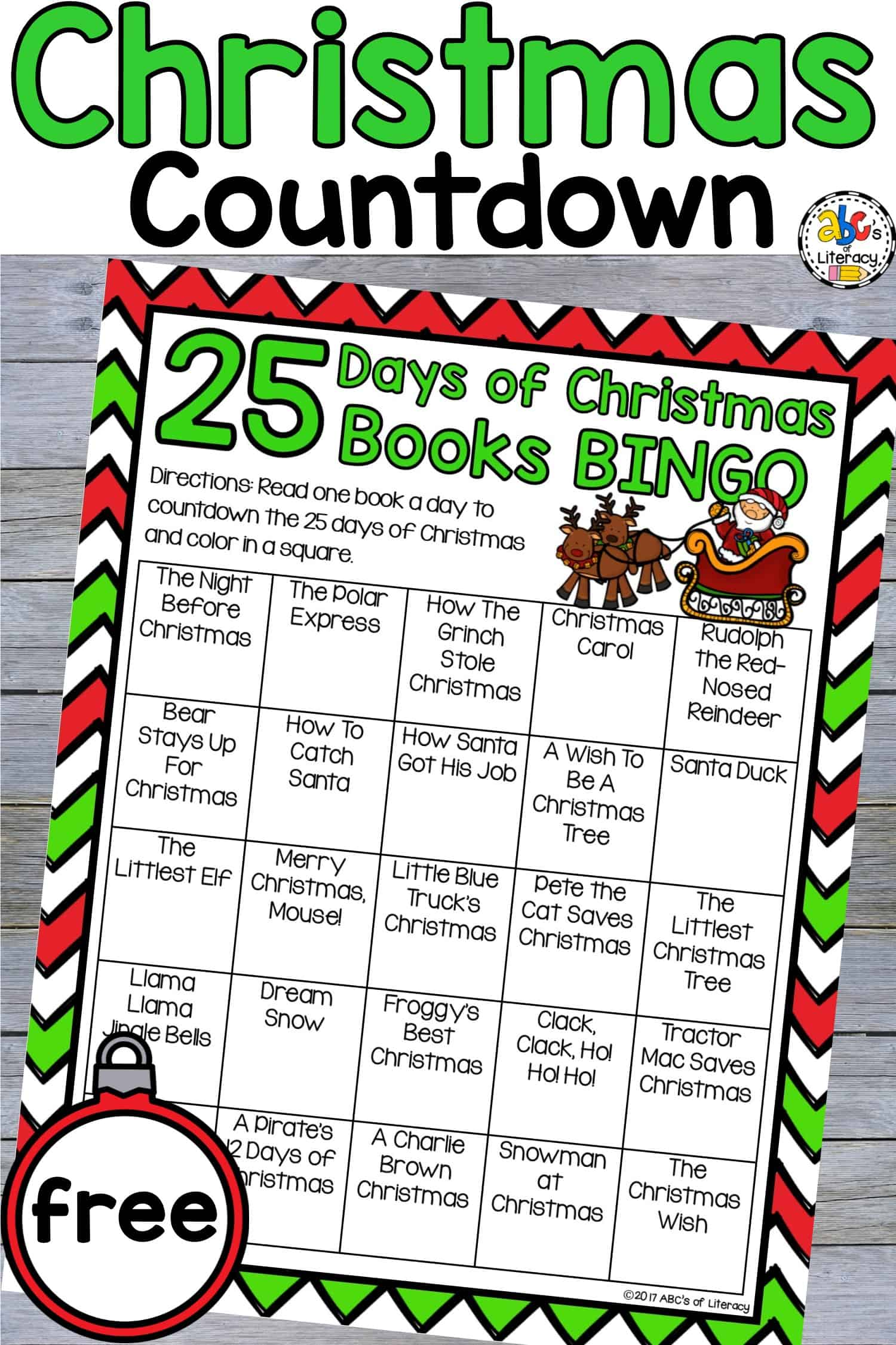 Countdown To Christmas With The 25 Days Of Christmas Books Bingo