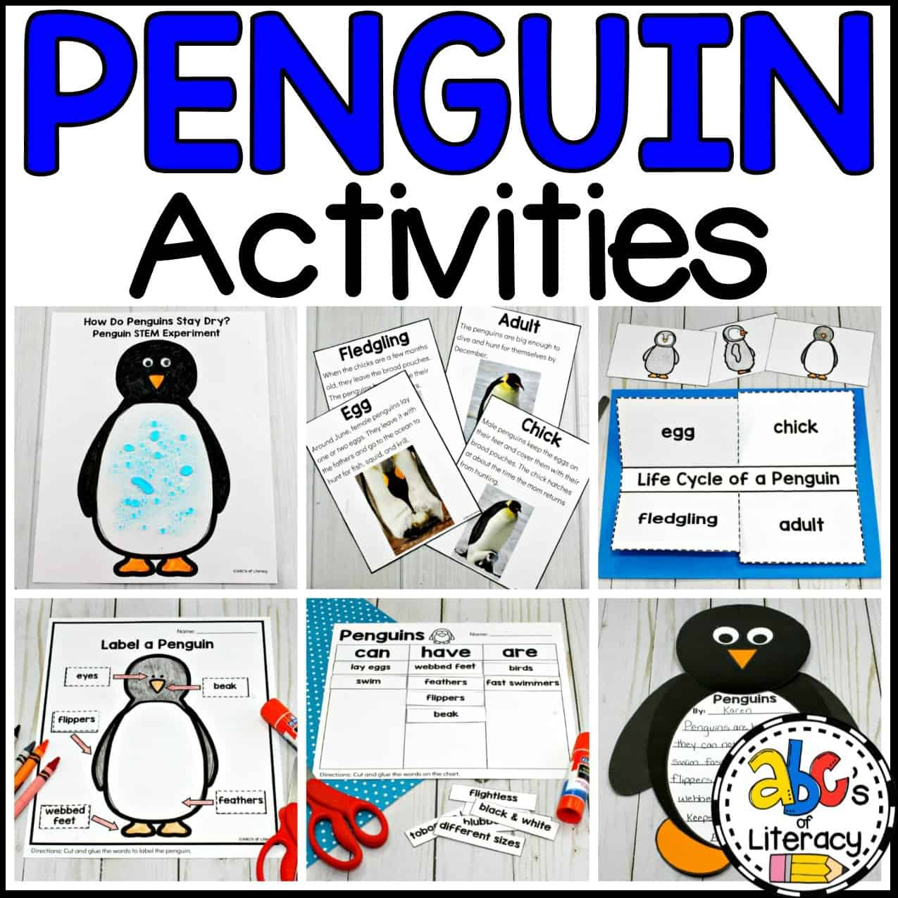 Penguin Tracing Worksheets For Preschool Pre Writing Activity
