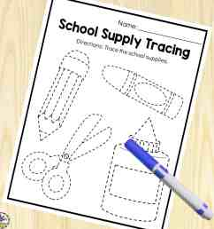 Back-to-School Preschool Worksheets For 3-5 Year Olds [ 2000 x 2000 Pixel ]