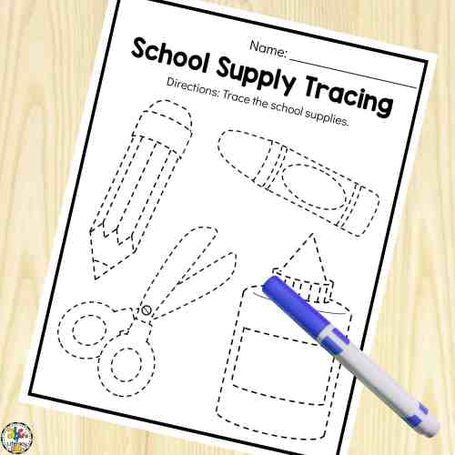 small resolution of Back-to-School Preschool Worksheets For 3-5 Year Olds
