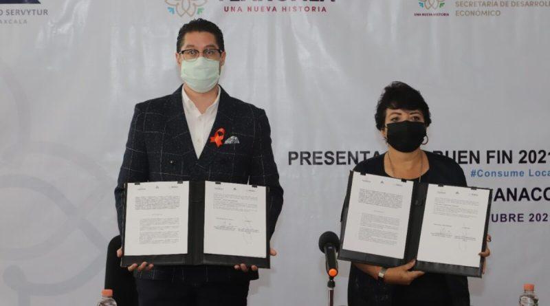 SEDECO, Plazas Comerciales y la CANACO-SERVYTUR anuncian el «BUEN FIN 2021» en Tlaxcala