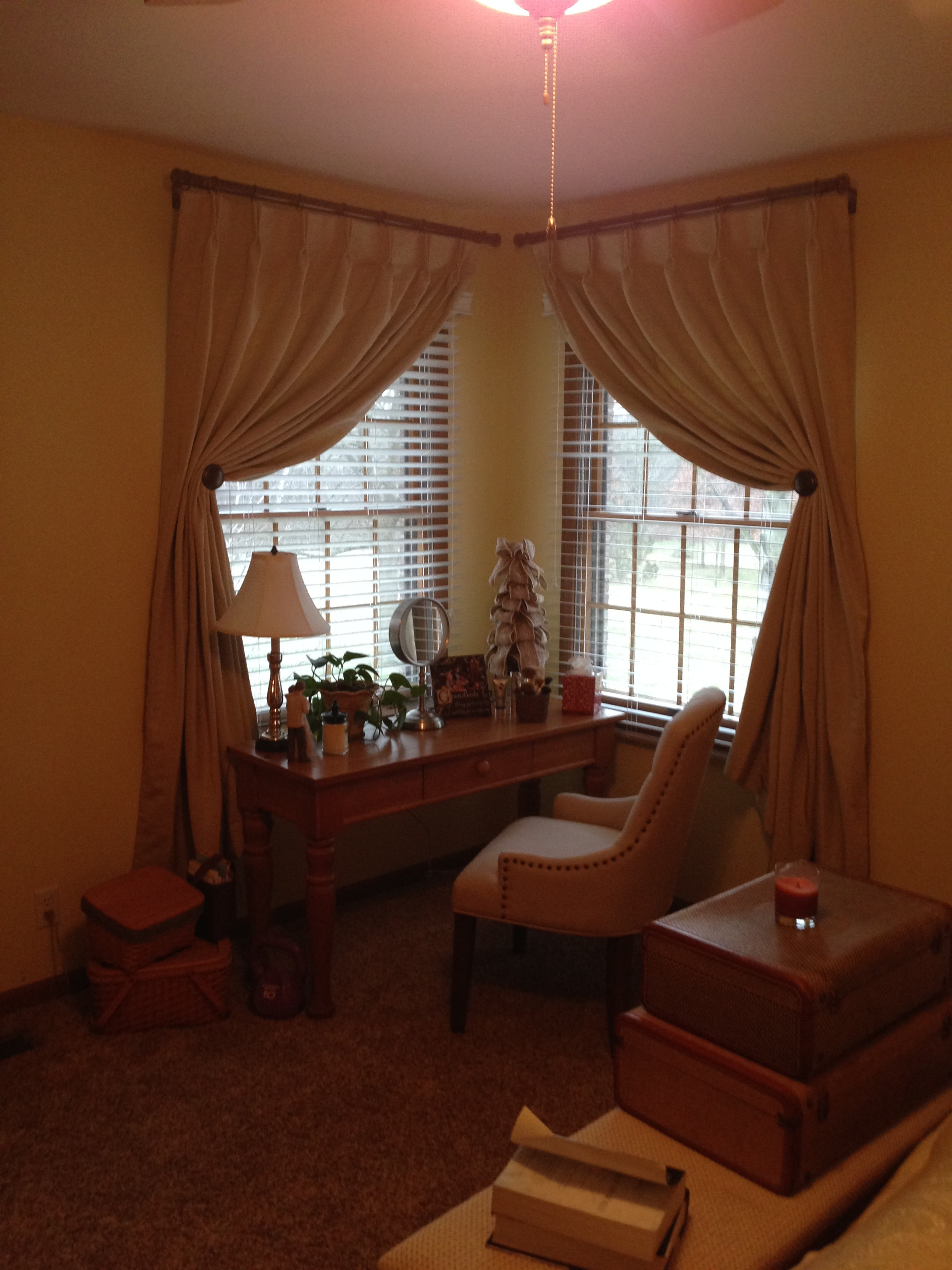 Master Bedroom Corner Window Solutions  Abda Window Fashions