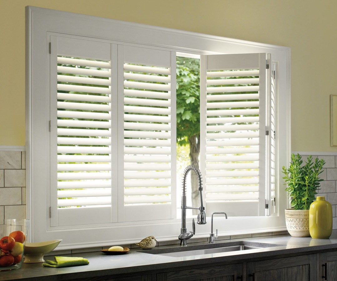 kitchen window shades lowes delta faucets faux wood shutters - abda fashions