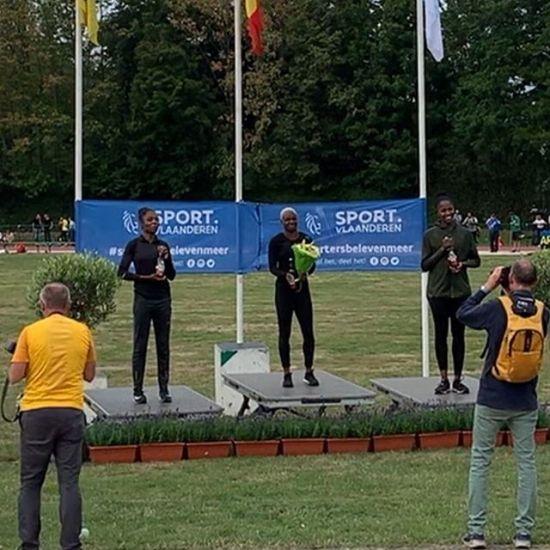 Superbe Victoire de @neola_orphee sur le 100m du meeting de Ninove en Belgique #100m #podium #sprint #victoire #performance #belgium #ninove #sprint #lebourget #drancy #dugny - from Instagram