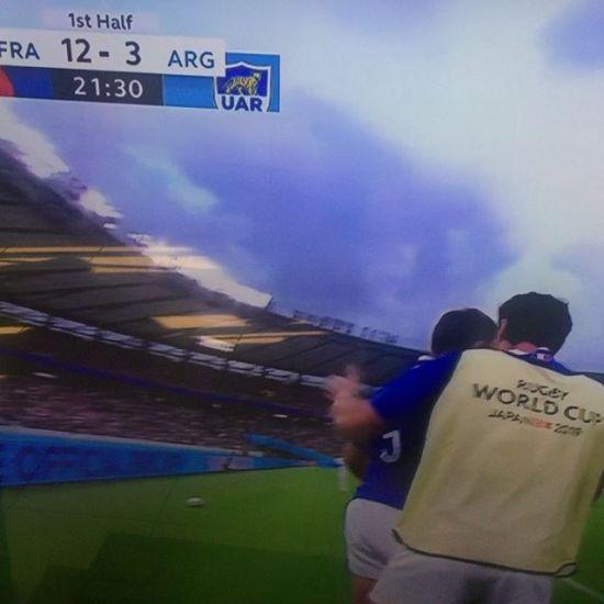 Car le sport est de l'émotion avant tout nous supportons l'équipe de France de rugby dans sa coupe du monde gogogo @allez.les.bleus_ #sport #rugby #worldcup #forceathletique #g - from Instagram