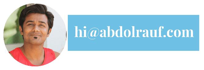 Contact Abdol Rauf