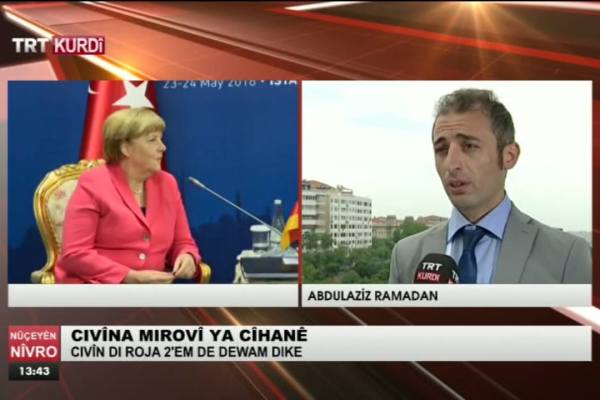 TRT Kurdî: Interview about EU-Turkey Role in Humanitarian Action