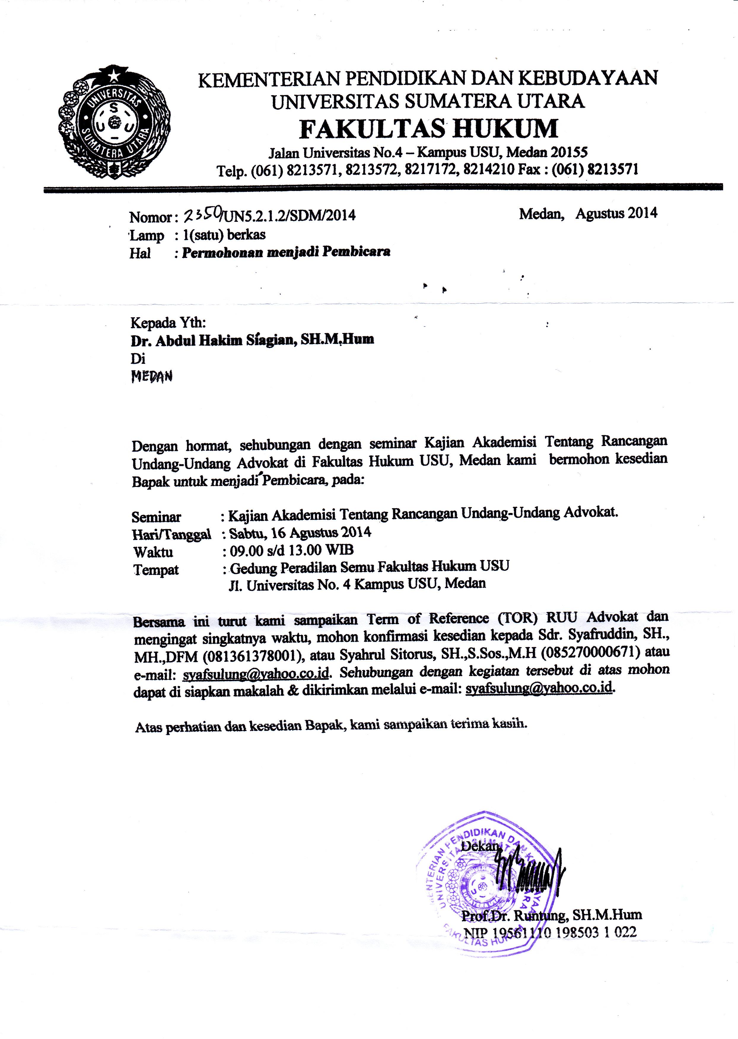 Contoh Undangan Workshop : contoh, undangan, workshop, Contoh, Surat, Undangan, Narasumber, Workshop