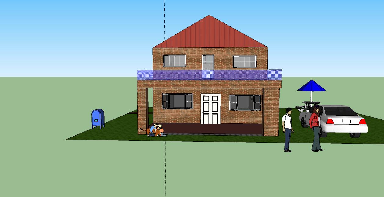 3D House Design Using Google Sketchup Abdulqudusbalogun