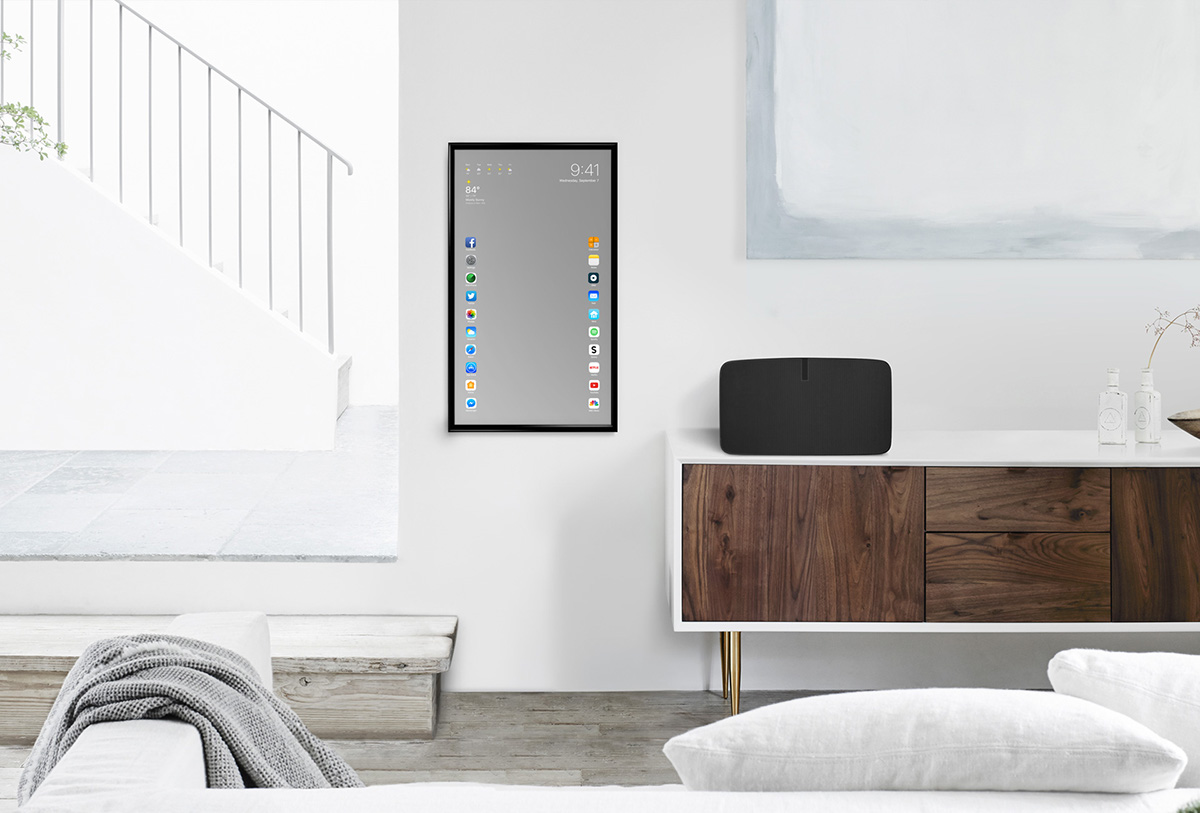 Apple Mirror - Touchscreen Mirror Functional Concept