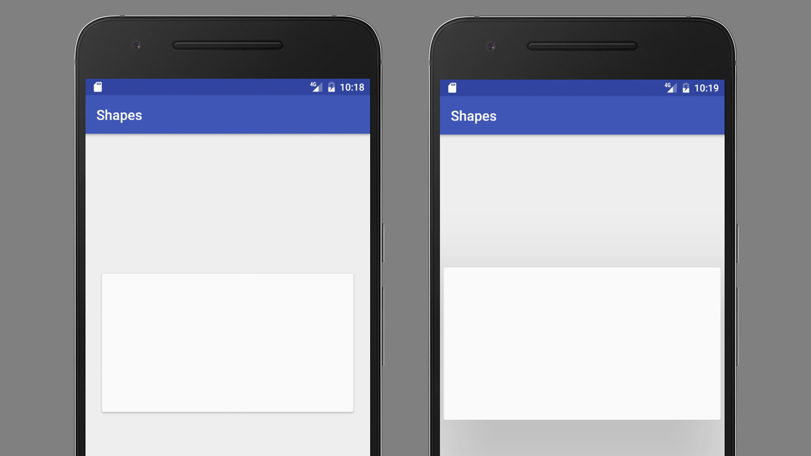 Android Native Prototyping - Shapes and Click Event