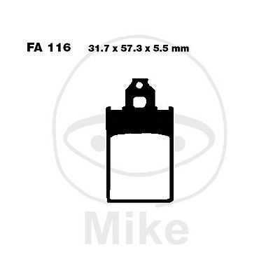 Bremsbeläge vorne Malaguti CR1 50 AC Crosser Bj. 96-01