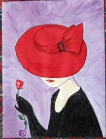 LADY IN A RED HAT (5)