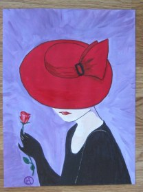 LADY IN A RED HAT (9)