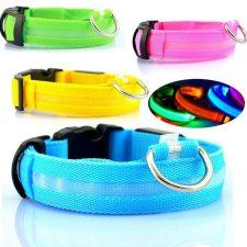 Safety LED Luminous Nylon Collar for Pets