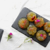 Chrysanthemum Goji Longan Jelly