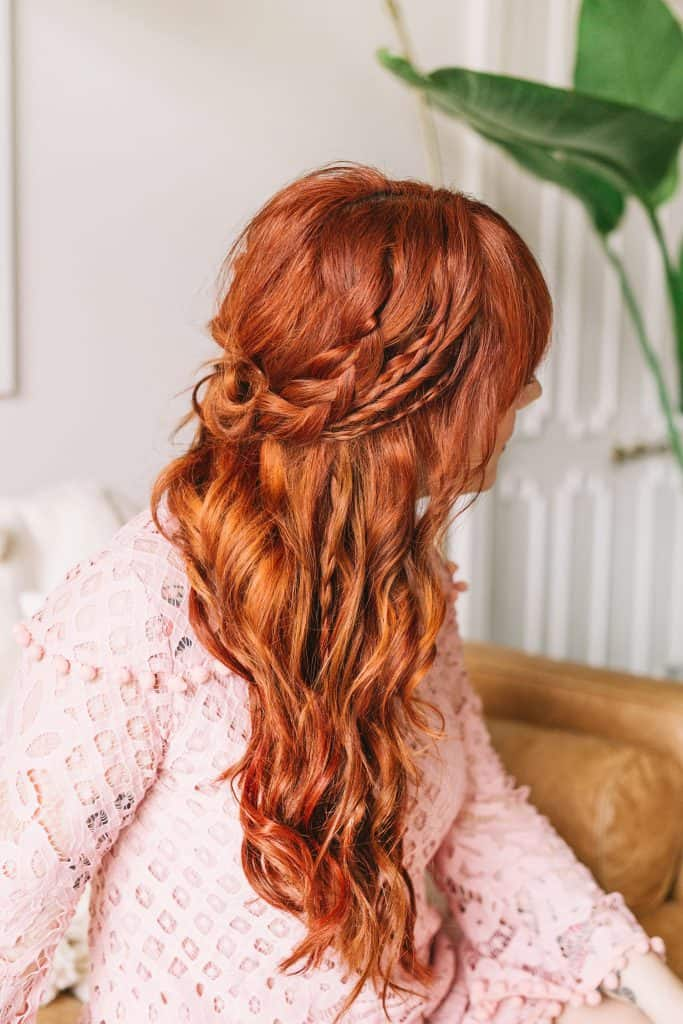 Braided Wavy Boho Hair Tutorial A Beautiful Mess