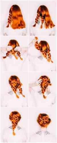 Easy Wedding Hair a Triple Braided Updo - A Beautiful Mess