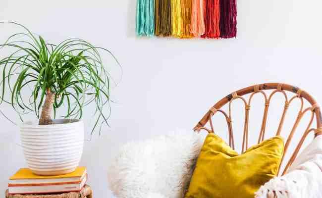 Easy Yarn Wall Art Diy A Beautiful Mess