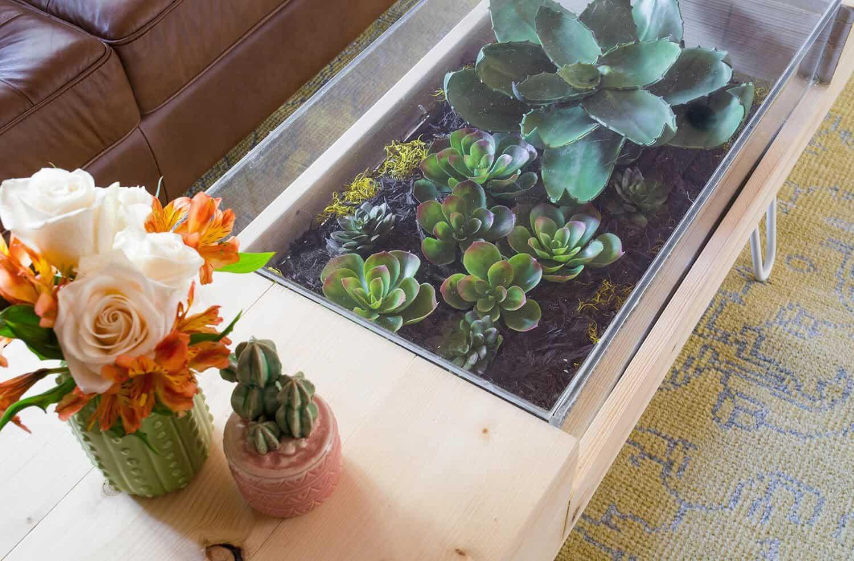 diy terrarium coffee table a